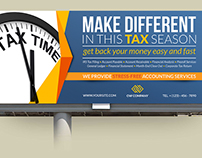 Tax and Accounting Billboard Template