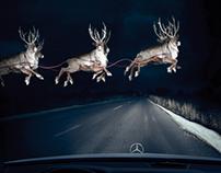 Mercedes-Benz - Reindeer in Headlights