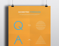 Geometric Typefaces Poster