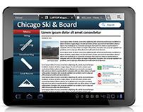 Tablet Website Idea Mockup