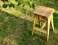 Plywood bar chair