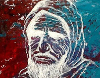 old man - acrylic color
