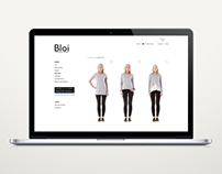 Website Bloi. Ecological Fashion