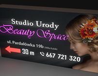 Beauty salon dibond light box