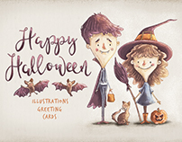 Kids Halloween Characters & Elements