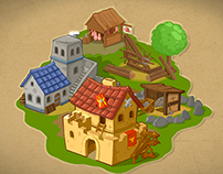 Ancient Rome theme isometric game art