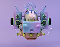 Water Robo - Art Toy