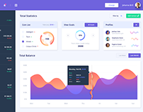 CRY-Token Dashboard Design - Illustration