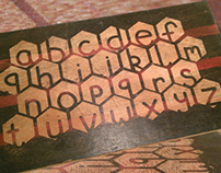 Hexabet - Hexagon Alphabet - Typography