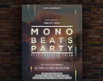 Mono Beats Party Flyer Template