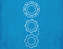 Vector Illustration: Gear Construction