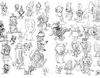 MUSE SKETCH BOOK: Inside Cover/Character Designs