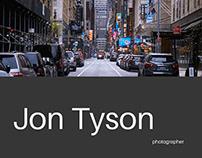 Photographer portfolio website concept