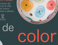 Carte para la exposición 'Un toque de color'