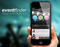 Event Finder Retina Mobile Interface