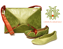 REBIRTH footwear and handbag
