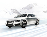 Visuals for Audi skiing world cup