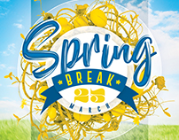 Spring Break Flyer Poster