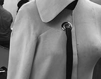 Draping: Flared raglan sleeve jacket in muslin