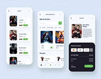 Movies Book Store | App ui design