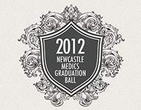 Graduation ball ticket design