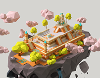 Isometric Temple