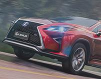 Lexus RX - UE4 Car Render