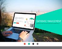 Database Management Application Landing Page