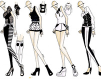 Fashion Illustration: Black & White
