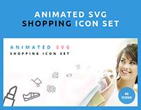 Animated SVG Shopping Icon Set