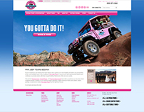 Pink Jeep Tours Branding (Website)