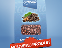 Cafesna packaging - Taste good.