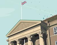 Derby City Council House - Vector Illustration