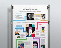 Инфографика о японском графическом дизайнере