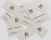 Scattered Business Card Mockup