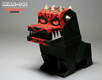 "killberos papertoy KILLB-001 ""Darth maul"" custom"