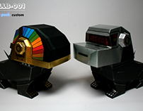 "killberos papertoy KILLB-001 ""Daft punk"" custom"