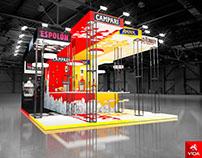 Exhibition stand for CAMPARI