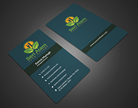 Clean Business Card For Restaurant