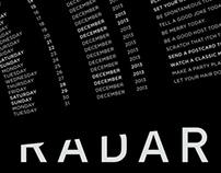RADAR - CALENDER 2013