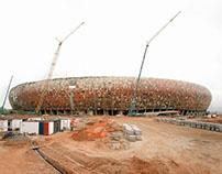 Facade for Soccer City Stadium Johannesburg | ZA