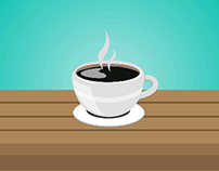 Coffee Cup Vector Icon Animation