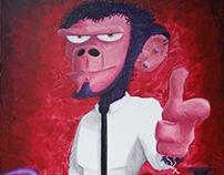Cool boy! 1x1mt canvas