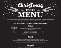 Cyprus tree Christmas menu, Ohakune, New Zealand