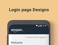Amazon Netflix Login page design