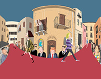 ill. per City Scripts/1 Via V. di Pavia di F. Abbate
