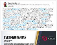 International Scrum Institute's Kanban Certifications