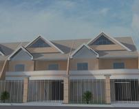 Condomínio Residencial - Sobrados Triplex