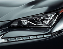 Lexus NX300 headlights Studio Render - CGI & Retouching