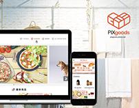 PIXgoods--e-commerce RWD UI design